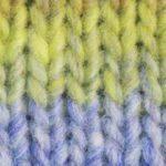kureyon blue yellow brown multi yarn