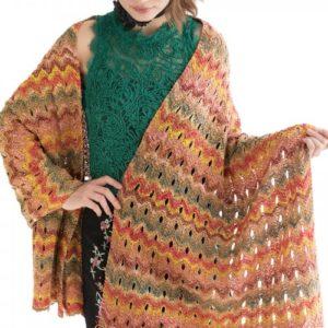 eyelet chevron shawl