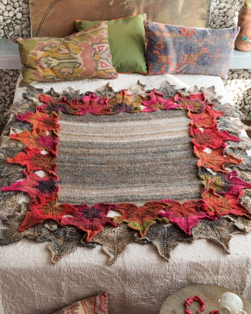 Silk Garden leaf-afghan